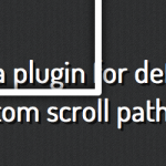 scroll path con jQuery