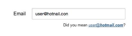 verificar y sugerir correcciones en las direcciones de email
