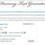 Dummy Text Generator: Generador Lorem Ipsum