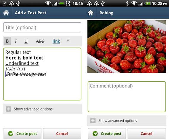 Tumblr para Android