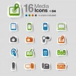 Vista previa de uno de los paquetes de iconos vectorizados estilo stickers
