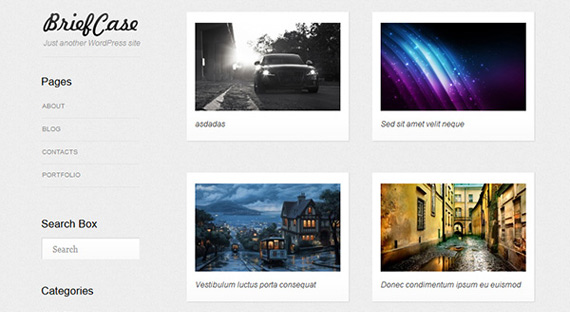 Theme para portfolio en WordPress