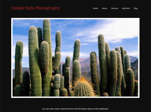 Theme para fotografía en WordPress