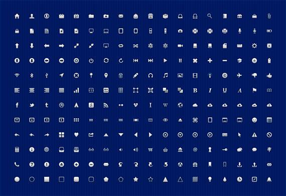 Iconos para UI en color blanco