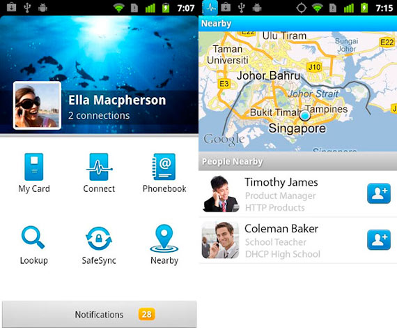 Agenda de contactos para Android