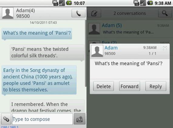 Mejorar mensajería en Android