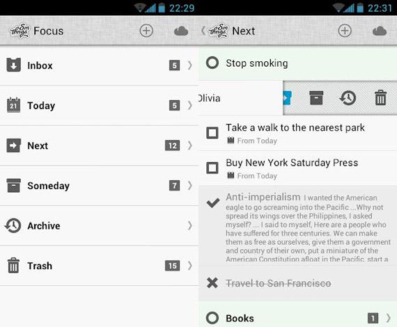 Gestor de tareas para Android