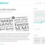 Theme minimalista para Wordpress