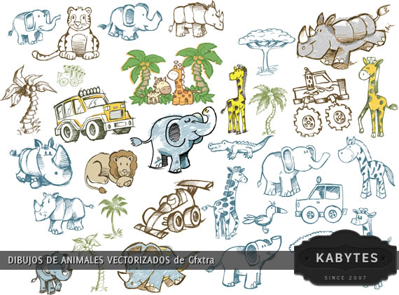 Vista previa de dibujos de animales africanos