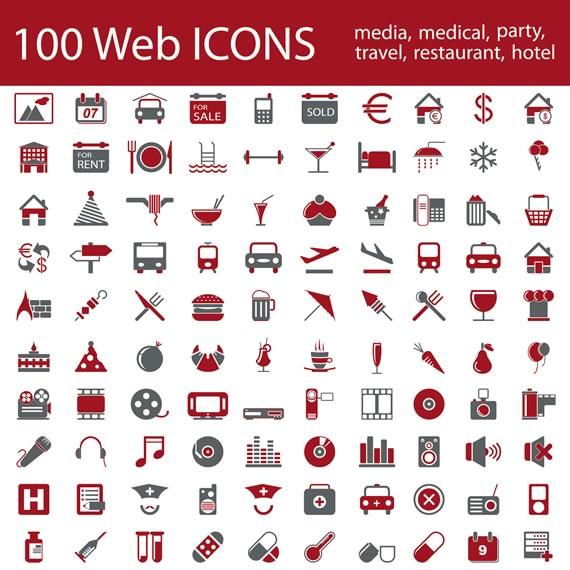 Vista previa de iconos en dos tonos