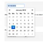 Bootstrap Twitter: Selector de fechas