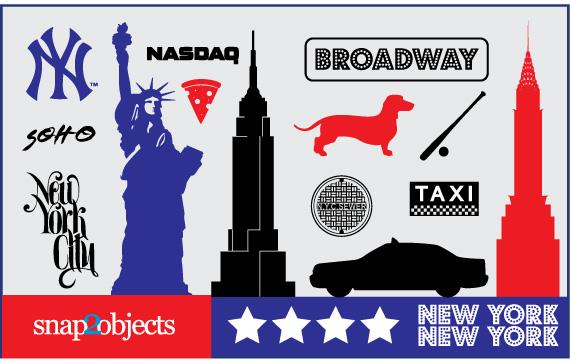 Vista previa de símbolos vectorizados de New York