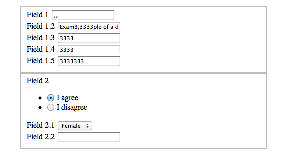 formulario desplegable con jQuery