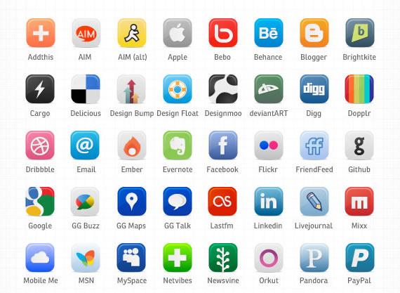Sitio Del Día Picons Iconos De Redes Sociales Para: 126 Iconos Gratis Para Social Media