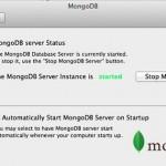 Panel de control de MongoDB para Mac OS X