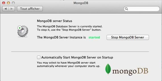 panel de control para mongoDB