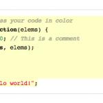resaltar lineas y bloques codigo fuente con jQuery