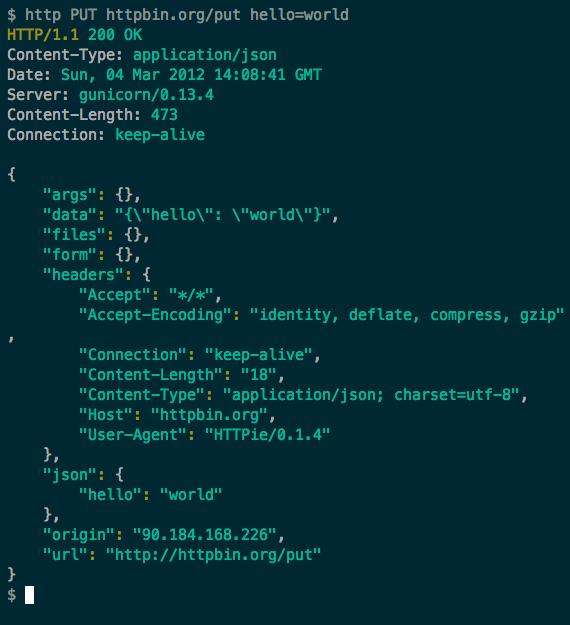 test de aplicaciones restful desde terminal