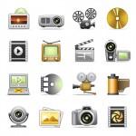 Vista previa de iconos multimedia