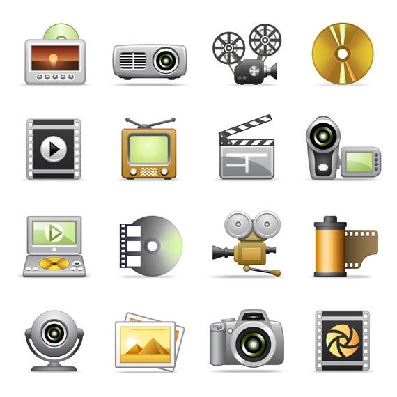 Coleccion Iconos Oficina Multimedia Gfxtra