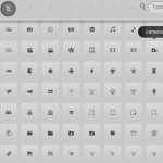 Vista previa de iconos web