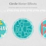 Efecto hover sobre círculos con transiciones CSS