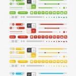 Vista previa de elementos UI vectorizados