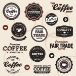 Vista previa de emblemas de cafés y restaurantes