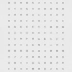 Vista previa de iconos con efecto grabado