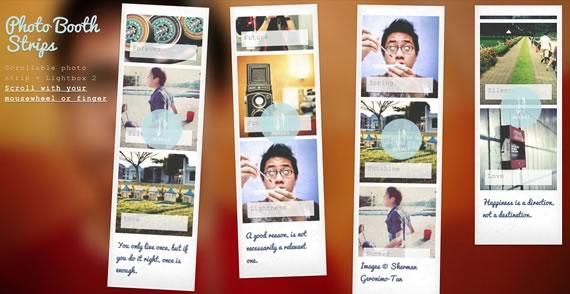 Vista previa de slider vertical estilo Polaroid