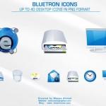 Iconos de sistema en azul y gris