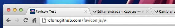 cambiar favicon con JavaScript