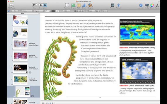 Vista previa de iBook Author