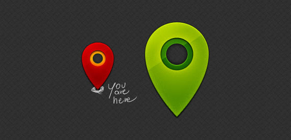 marcador estilo pin para mapas