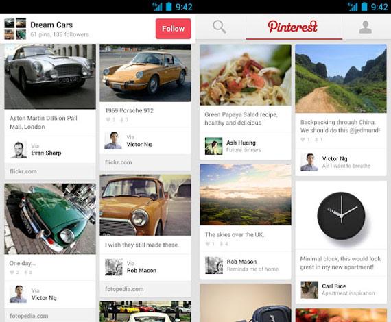 Pinterest para Android