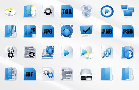 set gratuito de iconos azules