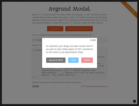 Dialogos modales con jQuery estilo Mac OS