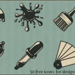 Iconos de escritura y arte estilo vintage