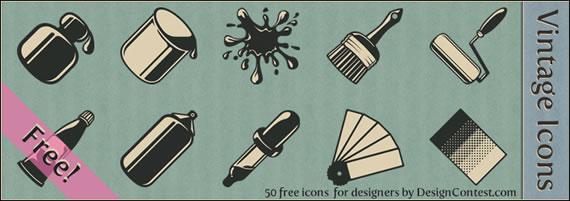 Vista previa de iconos estilo vintage