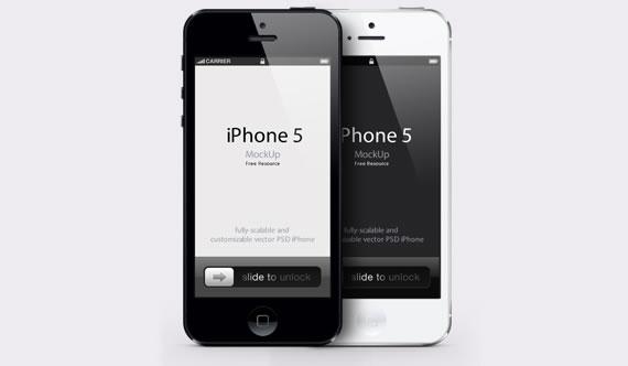 Vista previa de iPhone 5 en PSD