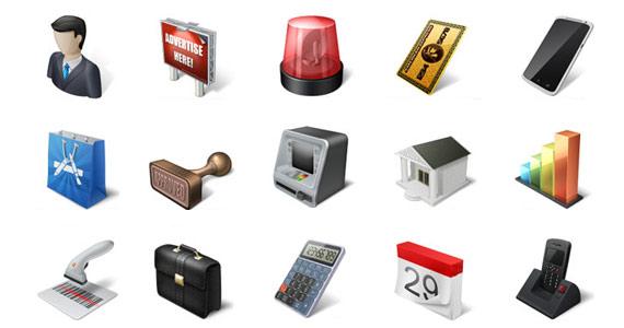 Iconos de comercio y negocios