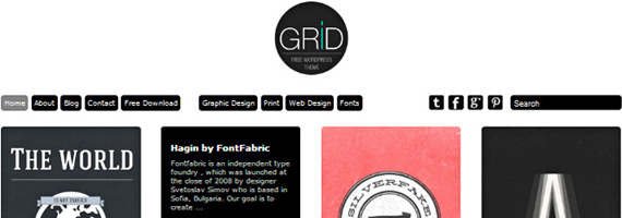 Themes para WordPress formato grid