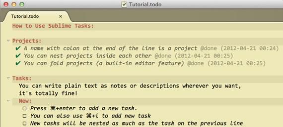 lista de pendientes para sublime text 2