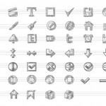 Iconos vectoriales sketch