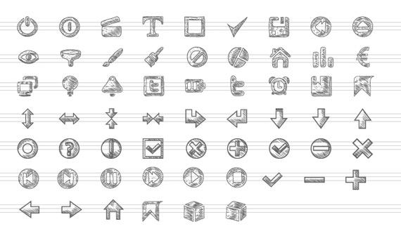 Iconos vectoriales sketch