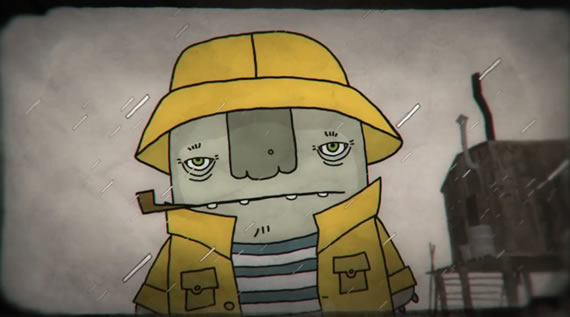 Captura de Fisher, corto de animación.