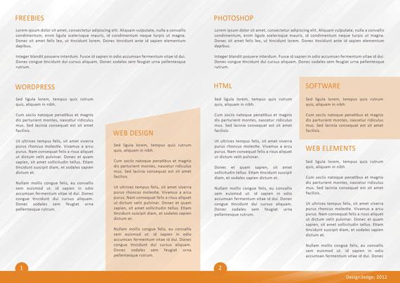 Vista interna de folleto para empresa en PSD