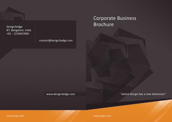 Vista previa de folleto para empresa en PSD