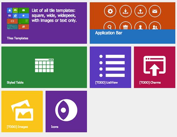 Framework html css windows 8 ui