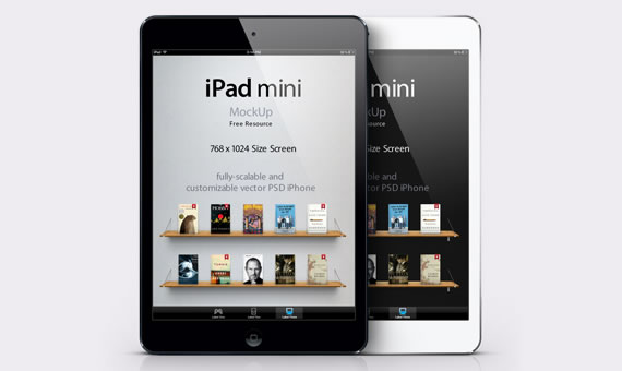 Vista previa de mockup de iPad Mini